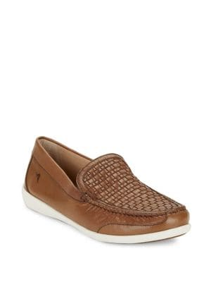Basketweave Leather Loafers...
