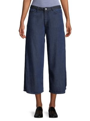 Vented Gaucho Jeans 500088133752