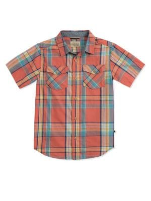 Boy's Short Sleeve Plaid...