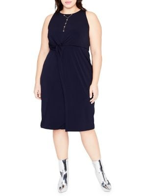 Plus Twist Front Dress 500088140960