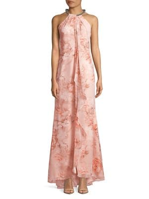 Floral Chiffon Gown 500088141322