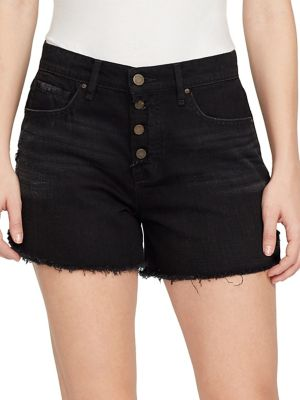 High-Rise Floral-Embroidered Shorts 500088144546