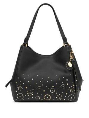 Studded Medium Hobo Bag...