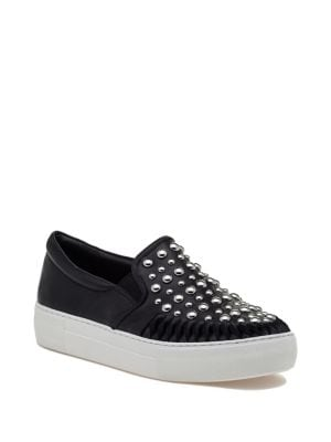 AZT Studded Leather Sneakers...