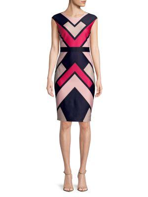 Colorblock Sheath Dress 500088156728