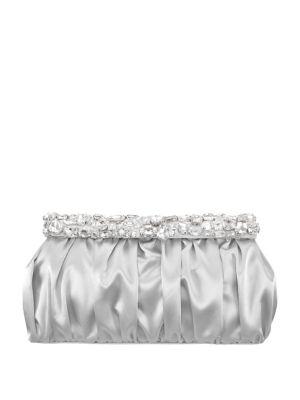 Dubai Embellished Satin Convertible Clutch 500088157652