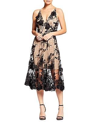 7647c69a065 Dress The Population - Wendy Ruffled-Hem Midi Sheath Dress ...