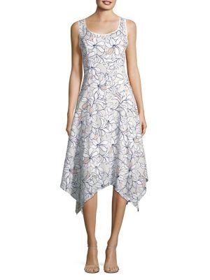 Floral Asymmetrical Dress 500088158099
