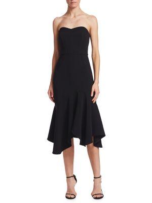 Strapless Flounce Sheath Dress 500088161371