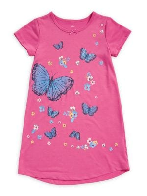 Little Girl's Butterfly-Print...