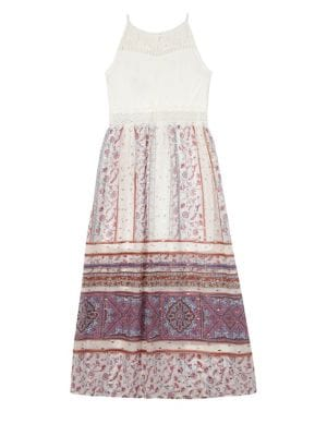 Girl's Lace and Paisley Dress 500088162863
