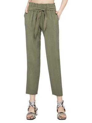 Self-Tie Tapered Pants 500088164482