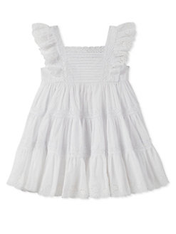 af071d60eff Little Girl s Embroidered Pleated Dress WHITE. QUICK VIEW. Product image