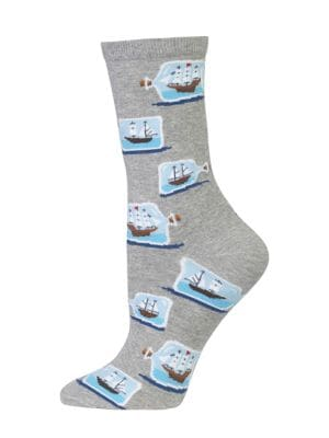 Ship Battle Graphic Socks...