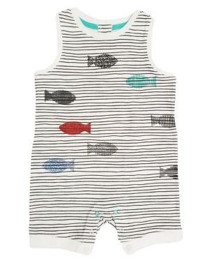 Baby Boy's Striped Fish...