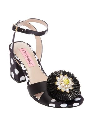 Asha Polka Dot Block Heel Sandals 500088168697