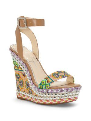 Alinda Textured Wedge Sandals 500088169211