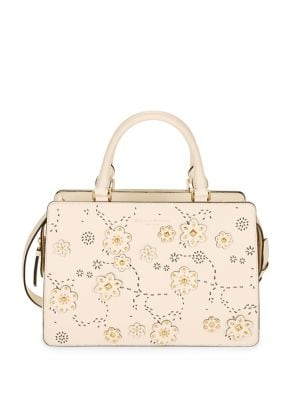 Floral Studded Leather...