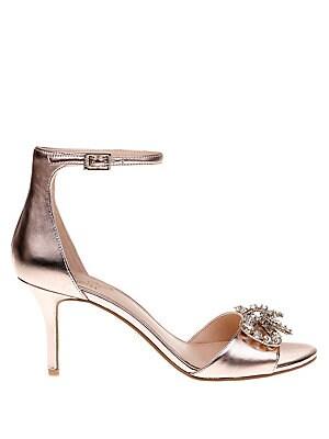 f48ab941a4c6b Jewel Badgley Mischka - Miguela Metallic Leather Stiletto Sandals