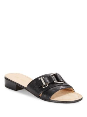 Yanni Leather Slides by Nine West