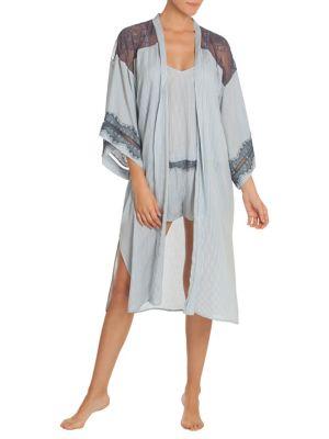 Flynn Stripe Kimono @...