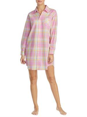 Plaid Cotton Sleepshirt...