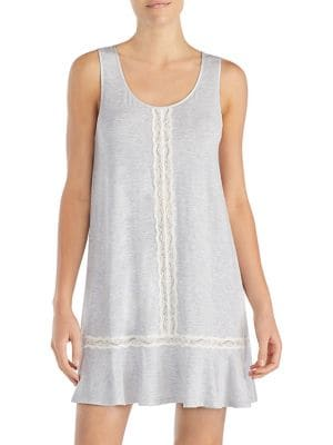 KATE SPADE CLASSIC LACE-TRIMMED CHEMISE