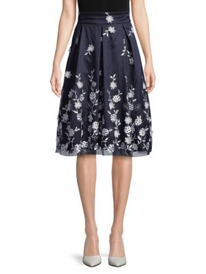 Floral Illusion Midi Skirt 500088213690