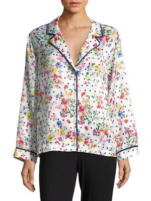 Floral Pajama Top @...