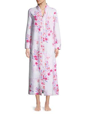 Floral Full-Zip Robe...