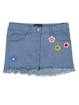 Girl's Flower Denim Shorts...