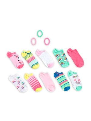 Girls 13Piece Unicorn Socks  Hair Tie Set
