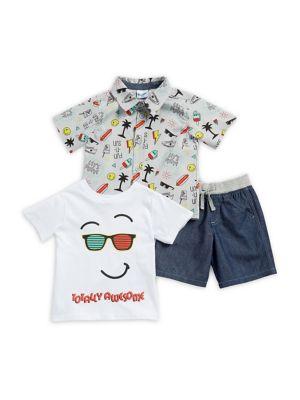 Little Boy's Emoji Three Piece Set 500088223549