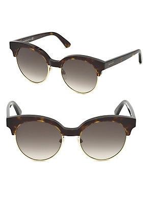 97e29b755 Balenciaga - 54MM Cat Eye Havana Acetate Logo Sunglasses ...