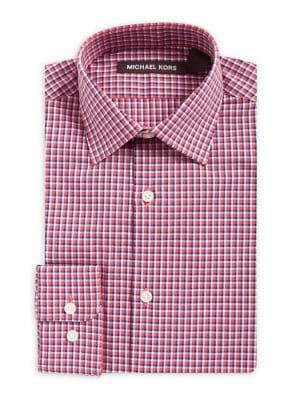 Boy's Checkered Cotton...