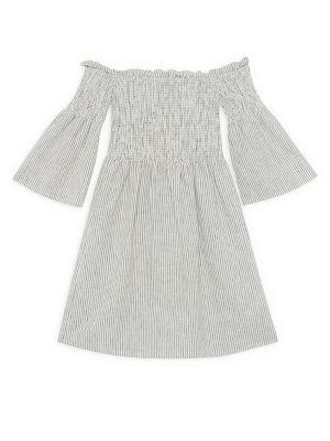 Girl's Nuno Amaya Shirred Bell-Sleeve Dress 500088230228