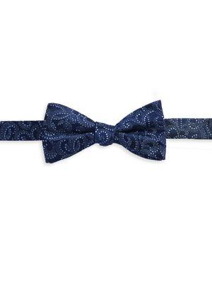 Textured Swirl Silk Bow...