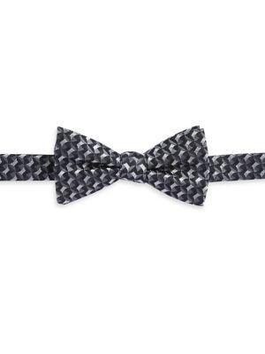 Geometric Silk Bow Tie...