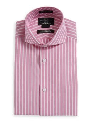 Fitted Non Iron Striped...