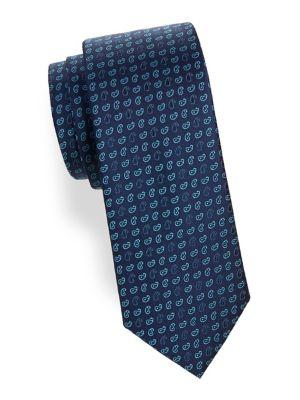 Paisley Neat Silk Tie...