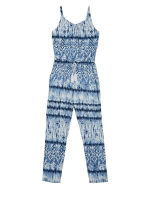 Girl's Printed Jumpsuit...