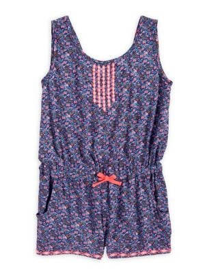 Girl's Printed Romper...