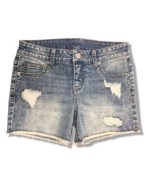 Girls Distressed Denim Shorts