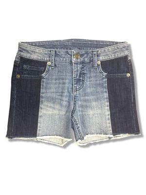 Girls TwoTone Denim Shorts