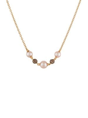 Image of Chocolatier Strawberry Pearl and 14K Strawberry Gold Necklace