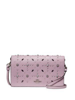 Prairie Rivets Leather Crossbody Bag 500088260458