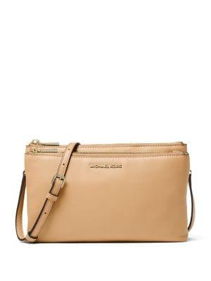 Leather Double Zip Crossbody Bag 500088266662
