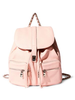 Pebbled Chained Backpack...
