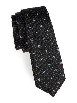 Boy's Dotted Silk Tie...
