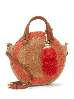Malko Leather Circle Crossody Bag 500088270039